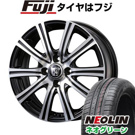 タイヤはフジ 送料無料 KOSEI コーセイ プラウザー ガナール 5.5J 5.50-15 NEOLIN ネオリン ネオグリーン(限定) 185/55R15 15インチ サマータイヤ ホイール4本セット