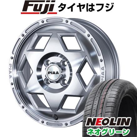 タイヤはフジ 送料無料 PIAA ヘックスロード 4.5J 4.50-15 NEOLIN ネオリン ネオグリーン(限定) 165/55R15 15インチ サマータイヤ ホイール4本セット