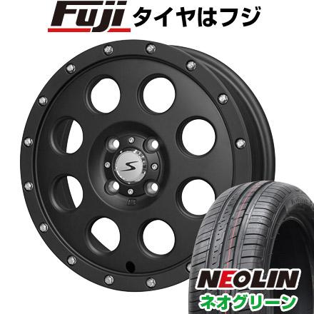 タイヤはフジ 送料無料 SOLID RACING ソリッドレーシング Iメタル X 4.5J 4.50-15 NEOLIN ネオリン ネオグリーン(限定) 165/50R15 15インチ サマータイヤ ホイール4本セット