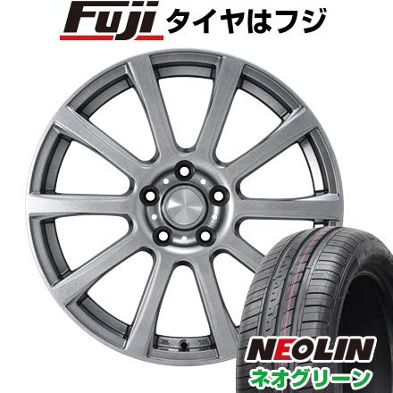 タイヤはフジ 送料無料 シエンタ 5穴/100 カジュアルセット タイプB17 メタリックグレー 6J 6.00-15 NEOLIN ネオリン ネオグリーン(限定) 185/60R15 15インチ サマータイヤ ホイール4本セット