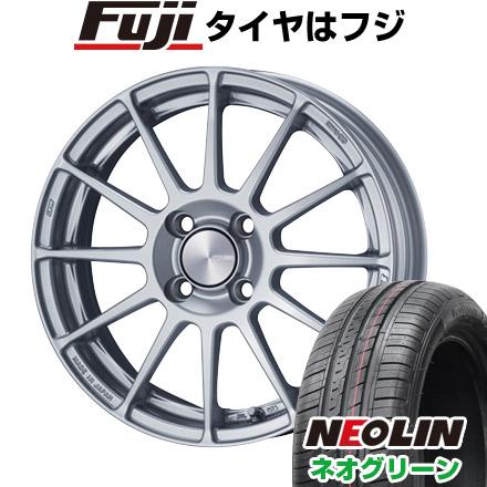 タイヤはフジ 送料無料 ENKEI エンケイ PF03 5J 5.00-15 NEOLIN ネオリン ネオグリーン(限定) 165/50R15 15インチ サマータイヤ ホイール4本セット