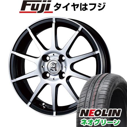 タイヤはフジ 送料無料 TECHNOPIA テクノピア アドニス HSR 5.5J 5.50-15 NEOLIN ネオリン ネオグリーン(限定) 185/65R15 15インチ サマータイヤ ホイール4本セット