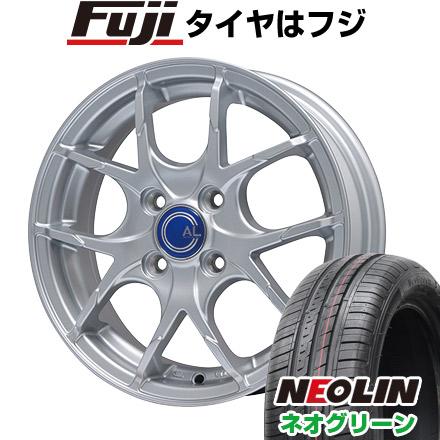 7/25はエントリーでポイント15倍 タイヤはフジ 送料無料 BRANDLE ブランドル M69 4.5J 4.50-15 NEOLIN ネオリン ネオグリーン(限定) 165/55R15 15インチ サマータイヤ ホイール4本セット