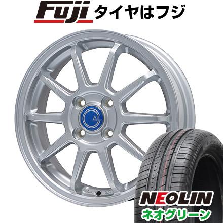 タイヤはフジ 送料無料 BRANDLE ブランドル M60 4.5J 4.50-14 NEOLIN ネオリン ネオグリーン(限定) 165/55R14 14インチ サマータイヤ ホイール4本セット