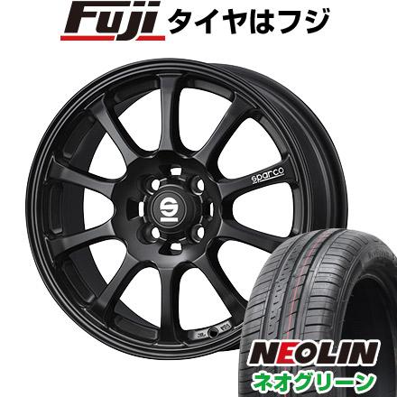 タイヤはフジ 送料無料 OZ SPARCO ドリフト 6.5J 6.50-15 NEOLIN ネオリン ネオグリーン(限定) 185/55R15 15インチ サマータイヤ ホイール4本セット