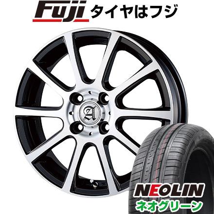 タイヤはフジ 送料無料 TECHNOPIA テクノピア アドニス ISR 4.5J 4.50-15 NEOLIN ネオリン ネオグリーン(限定) 165/55R15 15インチ サマータイヤ ホイール4本セット