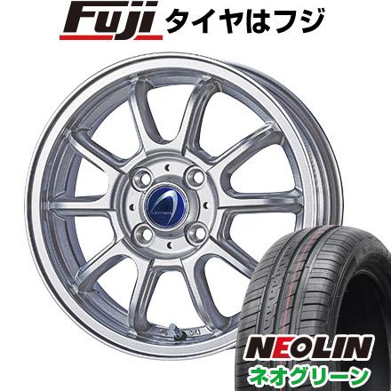 タイヤはフジ 送料無料 TECHNOPIA テクノピア アルテミス LSW 4.5J 4.50-14 NEOLIN ネオリン ネオグリーン(限定) 165/55R14 14インチ サマータイヤ ホイール4本セット