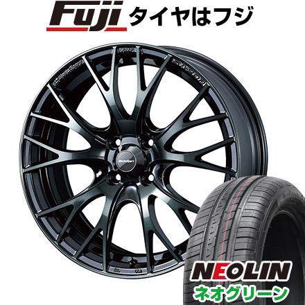 タイヤはフジ 送料無料 WEDS ウェッズスポーツ SA-20R 6J 6.00-15 NEOLIN ネオリン ネオグリーン(限定) 185/55R15 15インチ サマータイヤ ホイール4本セット