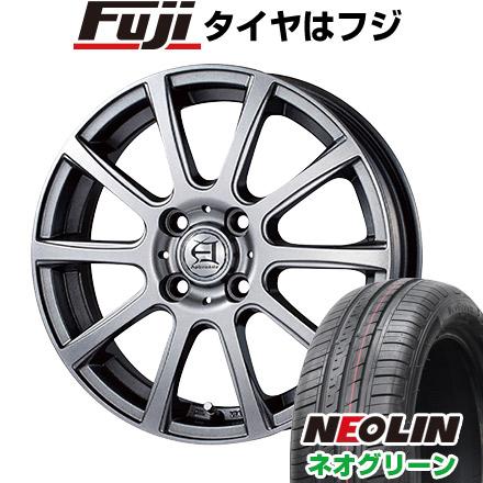 タイヤはフジ 送料無料 TECHNOPIA テクノピア アフロディーテ IS 4.5J 4.50-14 NEOLIN ネオリン ネオグリーン(限定) 165/55R14 14インチ サマータイヤ ホイール4本セット