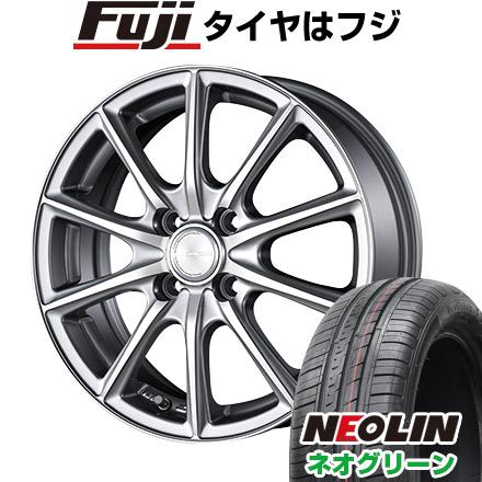 タイヤはフジ 送料無料 BRIDGESTONE ブリヂストン エコフォルム CRS/15 4.5J 4.50-15 NEOLIN ネオリン ネオグリーン(限定) 165/50R15 15インチ サマータイヤ ホイール4本セット