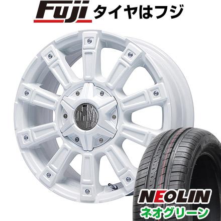 タイヤはフジ 送料無料 LEHRMEISTER レアマイスター モウスト(ホワイト)限定 4.5J 4.50-14 NEOLIN ネオリン ネオグリーン(限定) 165/55R14 14インチ サマータイヤ ホイール4本セット