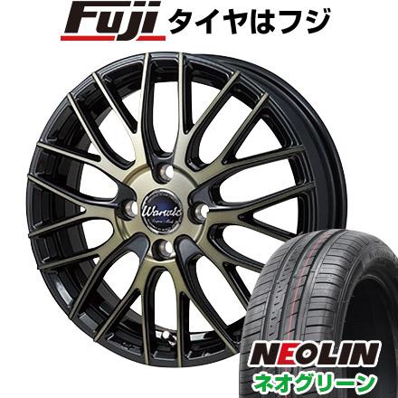タイヤはフジ 送料無料 MONZA モンツァ ワーウィック エンプレス メッシュ 6J 6.00-15 NEOLIN ネオリン ネオグリーン(限定) 175/65R15 15インチ サマータイヤ ホイール4本セット
