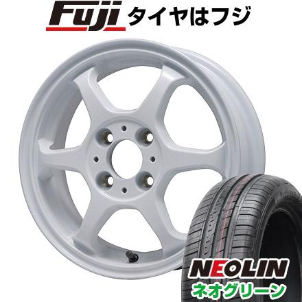 タイヤはフジ 送料無料 LEHRMEISTER リアルスポーツ カリスマVS6 4.5J 4.50-15 NEOLIN ネオリン ネオグリーン(限定) 165/50R15 15インチ サマータイヤ ホイール4本セット