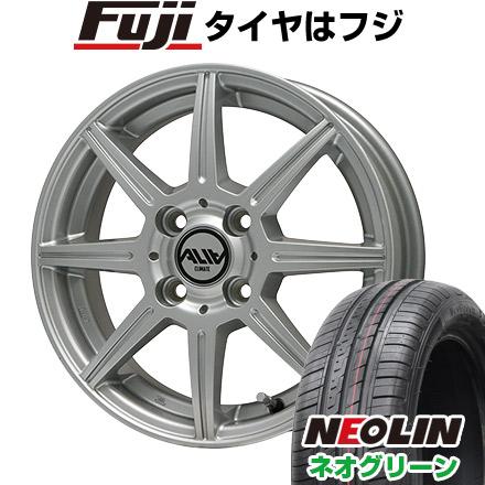 タイヤはフジ 送料無料 CLIMATE クライメイト アリア 5.5J 5.50-14 NEOLIN ネオリン ネオグリーン(限定) 175/65R14 14インチ サマータイヤ ホイール4本セット