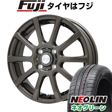 タイヤはフジ 送料無料 BIGWAY ビッグウエイ B-WIN ISX(ブロンズ) 5.5J 5.50-15 NEOLIN ネオリン ネオグリーン(限定) 185/65R15 15インチ サマータイヤ ホイール4本セット