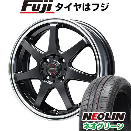 タイヤはフジ 送料無料 BLEST ブレスト ユーロマジック タイプS-07 5J 5.00-15 NEOLIN ネオリン ネオグリーン(限定) 165/55R15 15インチ サマータイヤ ホイール4本セット
