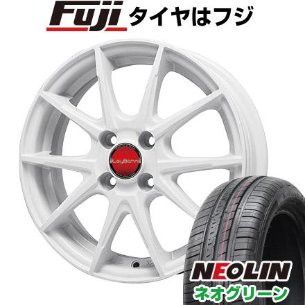タイヤはフジ 送料無料 BIGWAY ビッグウエイ LEYBAHN WGS 5.5J 5.50-15 NEOLIN ネオリン ネオグリーン(限定) 185/55R15 15インチ サマータイヤ ホイール4本セット