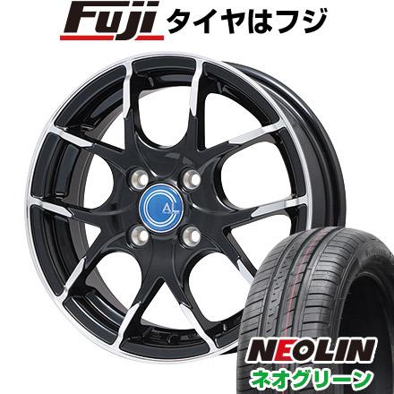 タイヤはフジ 送料無料 BRANDLE ブランドル M69B 5.5J 5.50-14 NEOLIN ネオリン ネオグリーン(限定) 175/65R14 14インチ サマータイヤ ホイール4本セット
