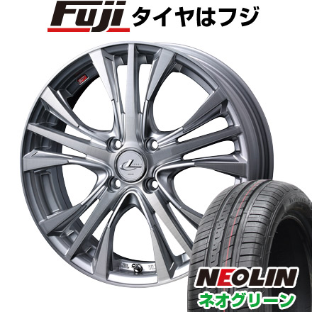 タイヤはフジ 送料無料 WEDS ウェッズ レオニス UC限定 4.5J 4.50-15 NEOLIN ネオリン ネオグリーン(限定) 165/50R15 15インチ サマータイヤ ホイール4本セット