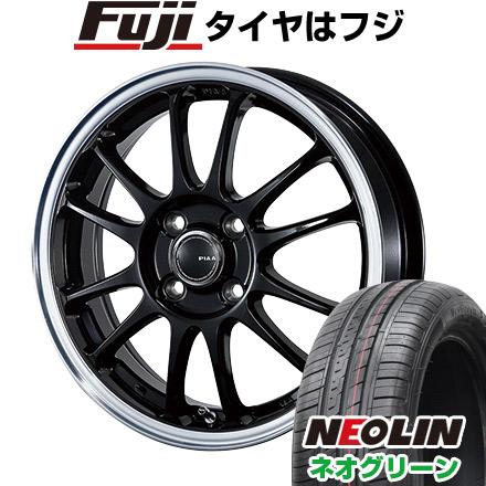 タイヤはフジ 送料無料 PIAA モトリズモTS-6 5.5J 5.50-15 NEOLIN ネオリン ネオグリーン(限定) 185/55R15 15インチ サマータイヤ ホイール4本セット