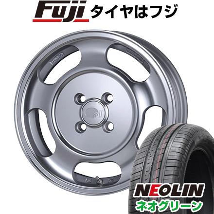 タイヤはフジ 送料無料 ENKEI エンケイ allシリーズ オールセブンティーン 5.5J 5.50-15 NEOLIN ネオリン ネオグリーン(限定) 185/55R15 15インチ サマータイヤ ホイール4本セット
