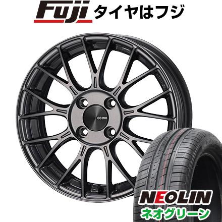 タイヤはフジ 送料無料 ENKEI エンケイ PFM1 5.5J 5.50-15 NEOLIN ネオリン ネオグリーン(限定) 185/55R15 15インチ サマータイヤ ホイール4本セット