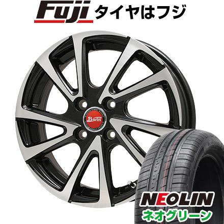 タイヤはフジ 送料無料 BIGWAY ビッグウエイ B-WIN ヴェノーザ10 5.5J 5.50-14 NEOLIN ネオリン ネオグリーン(限定) 175/65R14 14インチ サマータイヤ ホイール4本セット