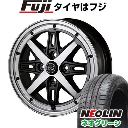タイヤはフジ 送料無料 ALGERNON アルジェノン フェニーチェ RX-2 6J 6.00-15 NEOLIN ネオリン ネオグリーン(限定) 185/55R15 15インチ サマータイヤ ホイール4本セット