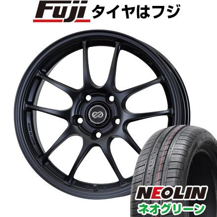 タイヤはフジ 送料無料 ENKEI エンケイ PF01 6.5J 6.50-15 NEOLIN ネオリン ネオグリーン(限定) 175/65R15 15インチ サマータイヤ ホイール4本セット