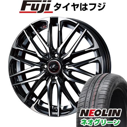タイヤはフジ 送料無料 WEDS ウェッズ レオニス SK 5.5J 5.50-15 NEOLIN ネオリン ネオグリーン(限定) 185/55R15 15インチ サマータイヤ ホイール4本セット