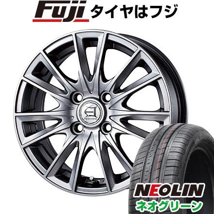 タイヤはフジ 送料無料 TECHNOPIA テクノピア アフロディーテ EF 5J 5.00-15 NEOLIN ネオリン ネオグリーン(限定) 165/50R15 15インチ サマータイヤ ホイール4本セット