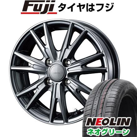 タイヤはフジ 送料無料 WEDS ウェッズ ヴェルバ ケヴィン 5.5J 5.50-15 NEOLIN ネオリン ネオグリーン(限定) 185/60R15 15インチ サマータイヤ ホイール4本セット