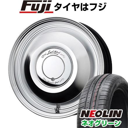 タイヤはフジ 送料無料 WORK ワーク レッドスレッド 4.5J 4.50-15 NEOLIN ネオリン ネオグリーン(限定) 165/55R15 15インチ サマータイヤ ホイール4本セット