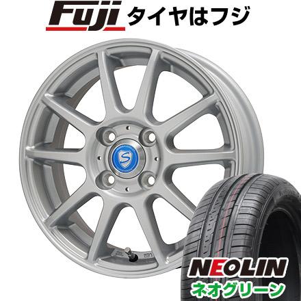 タイヤはフジ 送料無料 BRANDLE ブランドル 302 5.5J 5.50-15 NEOLIN ネオリン ネオグリーン(限定) 185/55R15 15インチ サマータイヤ ホイール4本セット