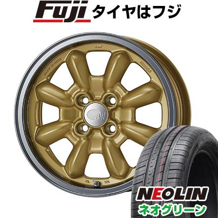 タイヤはフジ 送料無料 ENKEI エンケイ allシリーズ オールエイティーン コンペ 6J 6.00-15 NEOLIN ネオリン ネオグリーン(限定) 175/65R15 15インチ サマータイヤ ホイール4本セット