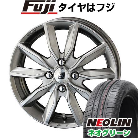 タイヤはフジ 送料無料 KYOHO 共豊 キョウホウ ザインSV 4.5J 4.50-14 NEOLIN ネオリン ネオグリーン(限定) 165/55R14 14インチ サマータイヤ ホイール4本セット