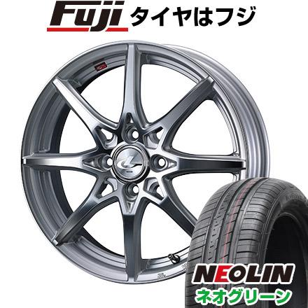 タイヤはフジ 送料無料 WEDS ウェッズ レオニス SV 5.5J 5.50-15 NEOLIN ネオリン ネオグリーン(限定) 185/55R15 15インチ サマータイヤ ホイール4本セット
