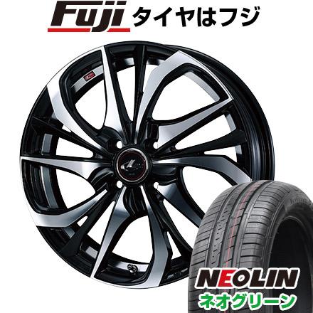 タイヤはフジ 送料無料 WEDS ウェッズ レオニス TE 4.5J 4.50-15 NEOLIN ネオリン ネオグリーン(限定) 165/50R15 15インチ サマータイヤ ホイール4本セット