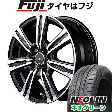 7/25はエントリーでポイント15倍 タイヤはフジ 送料無料 MID ユーロスピード BC-7 5.5J 5.50-14 NEOLIN ネオリン ネオグリーン(限定) 175/65R14 14インチ サマータイヤ ホイール4本セット