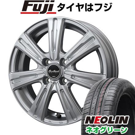 タイヤはフジ 送料無料 MID ユーロスピード C-07 4.5J 4.50-15 NEOLIN ネオリン ネオグリーン(限定) 165/50R15 15インチ サマータイヤ ホイール4本セット