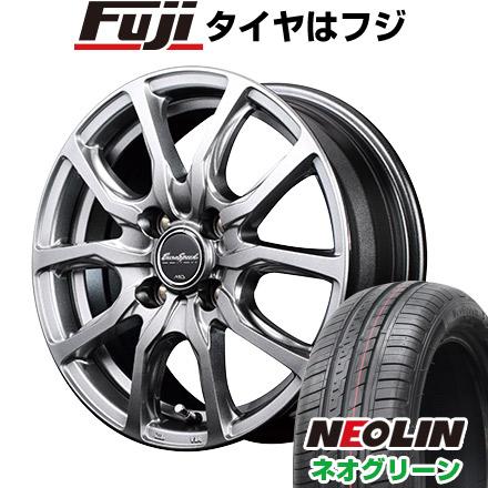 タイヤはフジ 送料無料 MID ユーロスピード G52 4.5J 4.50-15 NEOLIN ネオリン ネオグリーン(限定) 165/50R15 15インチ サマータイヤ ホイール4本セット