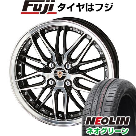タイヤはフジ 送料無料 KYOHO 共豊 シュタイナー LMX 5.5J 5.50-15 NEOLIN ネオリン ネオグリーン(限定) 185/60R15 15インチ サマータイヤ ホイール4本セット