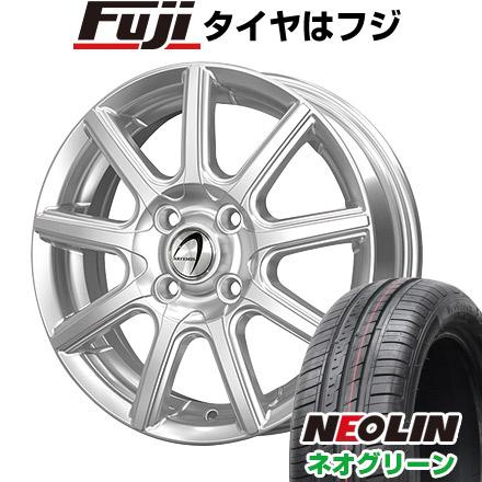 タイヤはフジ 送料無料 TECHNOPIA テクノピア アルテミス NS9 4.5J 4.50-14 NEOLIN ネオリン ネオグリーン(限定) 165/55R14 14インチ サマータイヤ ホイール4本セット