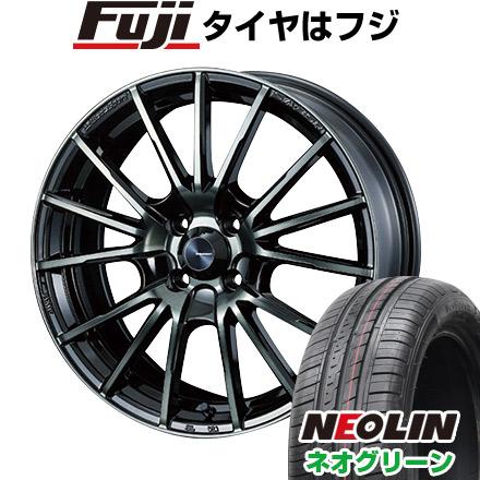 タイヤはフジ 送料無料 WEDS ウェッズスポーツ SA-35R 5J 5.00-15 NEOLIN ネオリン ネオグリーン(限定) 165/50R15 15インチ サマータイヤ ホイール4本セット