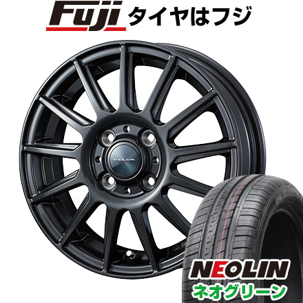 タイヤはフジ 送料無料 WEDS ウェッズ ヴェルバ イゴール 5.5J 5.50-15 NEOLIN ネオリン ネオグリーン(限定) 185/55R15 15インチ サマータイヤ ホイール4本セット