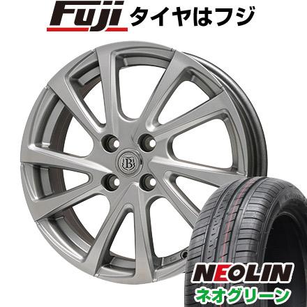タイヤはフジ 送料無料 BRANDLE ブランドル E04 5.5J 5.50-15 NEOLIN ネオリン ネオグリーン(限定) 185/55R15 15インチ サマータイヤ ホイール4本セット