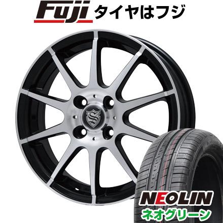 タイヤはフジ 送料無料 BRANDLE ブランドル 562B 4.5J 4.50-14 NEOLIN ネオリン ネオグリーン(限定) 165/55R14 14インチ サマータイヤ ホイール4本セット