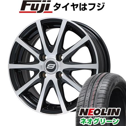 タイヤはフジ 送料無料 BRANDLE ブランドル M71BP 5.5J 5.50-14 NEOLIN ネオリン ネオグリーン(限定) 175/65R14 14インチ サマータイヤ ホイール4本セット