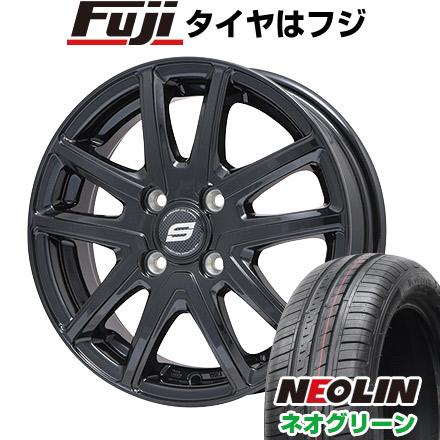 タイヤはフジ 送料無料 BRANDLE ブランドル M61B 4.5J 4.50-15 NEOLIN ネオリン ネオグリーン(限定) 165/50R15 15インチ サマータイヤ ホイール4本セット