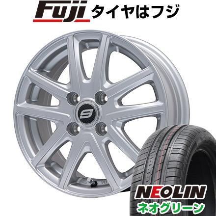 タイヤはフジ 送料無料 BRANDLE ブランドル M61 5.5J 5.50-15 NEOLIN ネオリン ネオグリーン(限定) 185/65R15 15インチ サマータイヤ ホイール4本セット